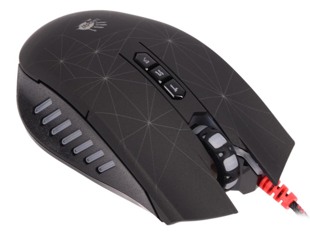 Мышь A4 Bloody P81 черный оптическая (5000dpi) USB2.0 игровая (8but) мышь a4 bloody r7