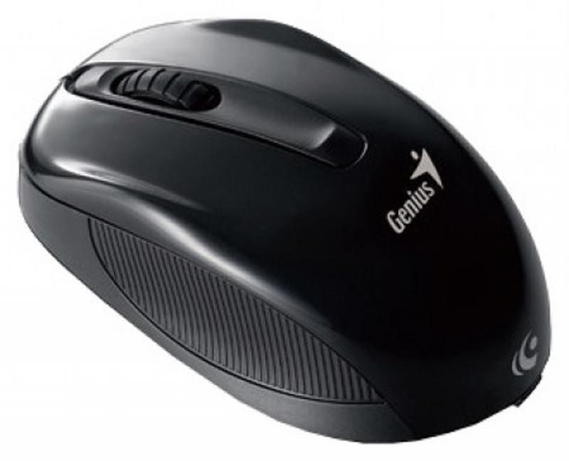 купить Мышь беспроводная Genius NX-7005 Black USB оптическая, 1200 dpi, 3 кнопки + колесо по цене 520 рублей