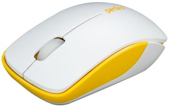 Мышь Perfeo PF-763-WOP-W/Y бело-желтый USB мышь perfeo assorty usb white red pf 763 wop w r