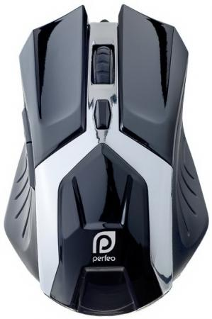 Мышь проводная Perfeo Galaxy PF-1718-GM чёрный USB
