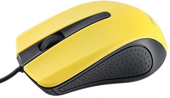 Мышь проводная Perfeo PF-353-OP-Y черно-желтый USB цена и фото
