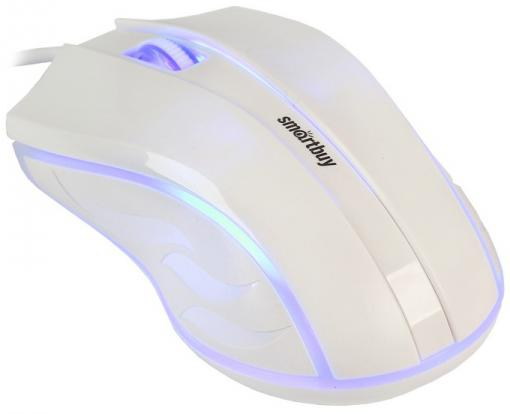лучшая цена Мышь проводная Smartbuy ONE 338 белая [SBM-338-W]