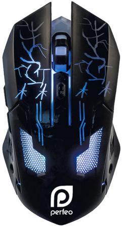 лучшая цена Мышь проводная Perfeo Quest PF-1712-GM чёрный USB