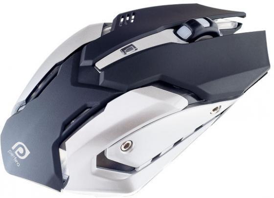 Мышь проводная Perfeo Shooter PF-1709-GM чёрный USB