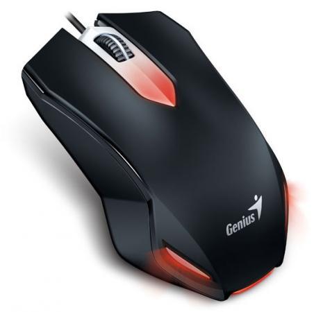 лучшая цена Мышь Genius X-G200 Black USB проводная, оптическая, 1000 dpi, 3 кнопки + колесо