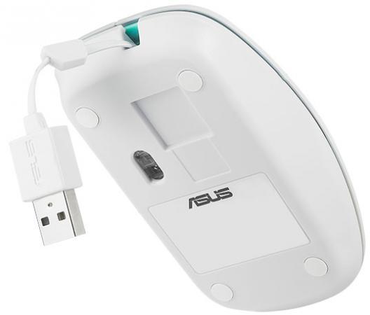 Мышь проводная ASUS UT300 белый USB мышь проводная asus gx950 чёрный usb 90 xb3l00mu00000