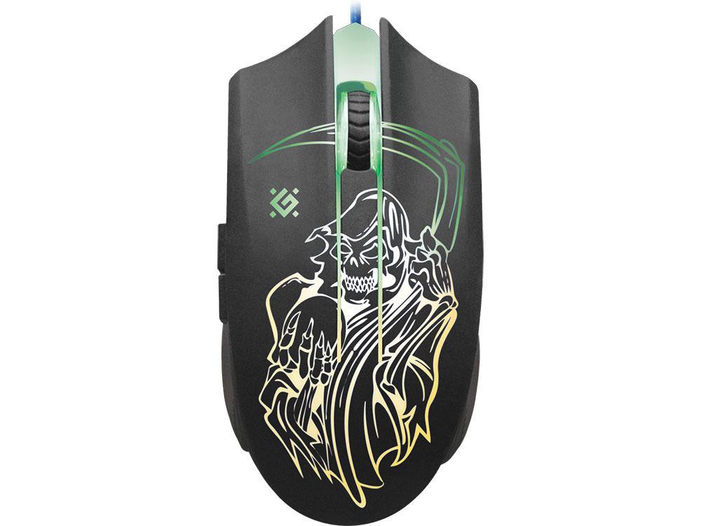 Проводная игровая мышь Ghost GM-190L оптика,6кнопок,800-3200dpi DEFENDER