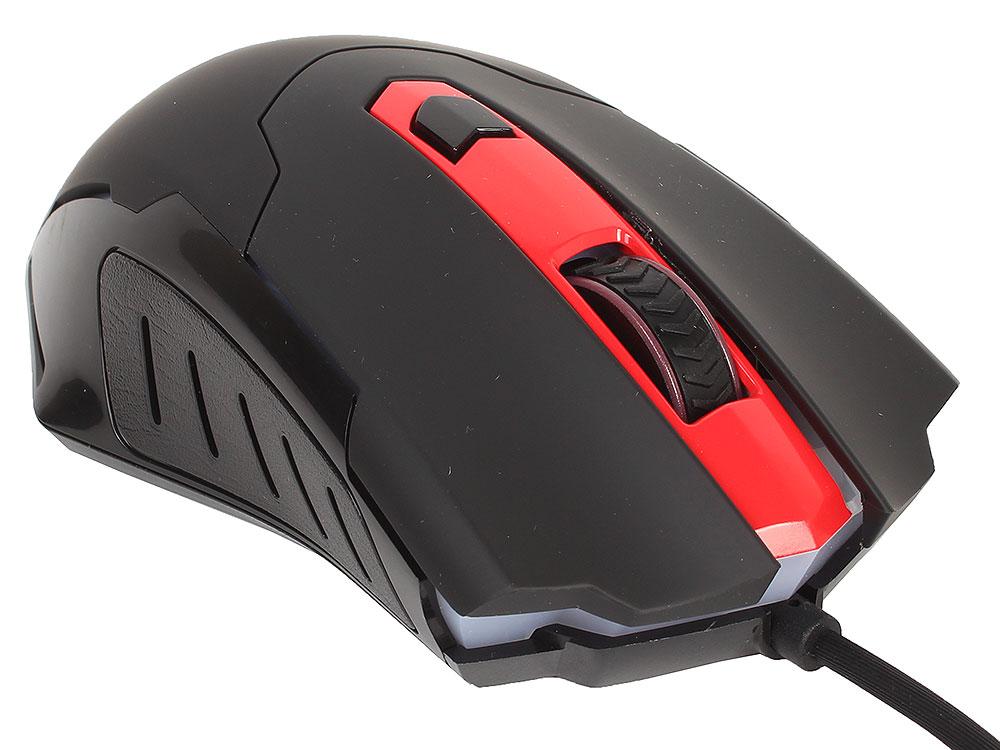 Мышь redragon pegasus black red usb проводная, оптическая,