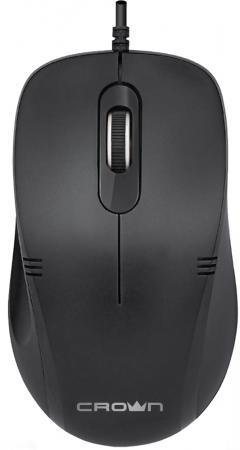 Мышь проводная Crown CMM-501 Silent чёрный USB мышь проводная crown cmm 016 чёрный серебристый usb