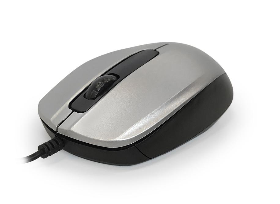 Мышь CBR CM 117 Silver USB проводная, оптическая, 1200dpi, 2 кнопки + колесо