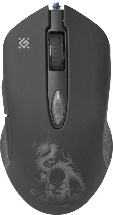 цена на Мышь Defender Sky Dragon GM-090L Black USB проводная, оптическая, 3200 dpi, 5 кнопок + колесо