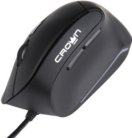 где купить Мышь проводная Crown CMM-960 Health чёрный USB дешево