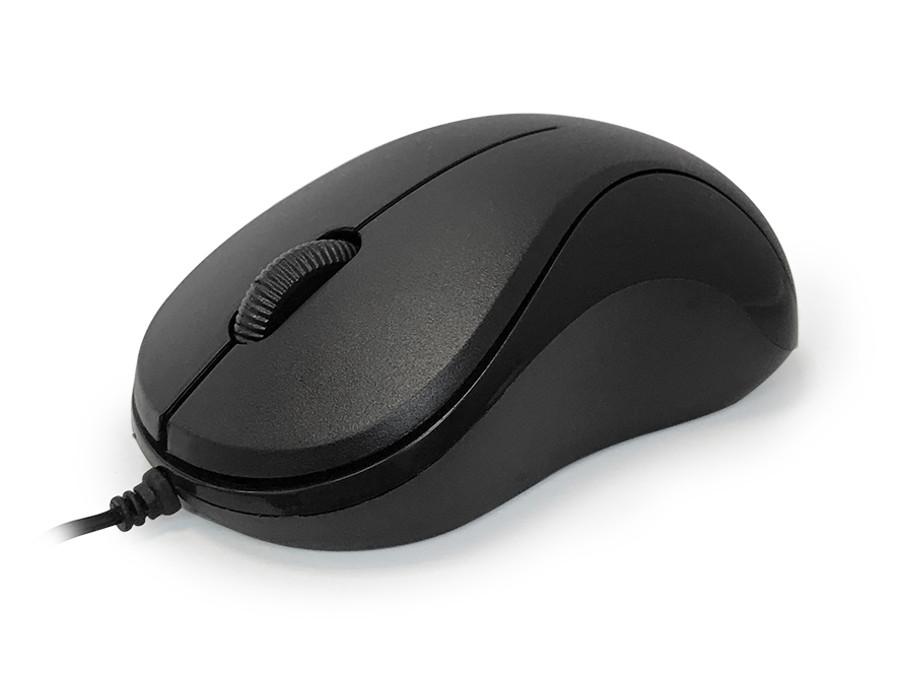 Мышь CBR CM 114 Black, USB, проводная, оптическая, 1200 dpi, 2 кнопки + колесо
