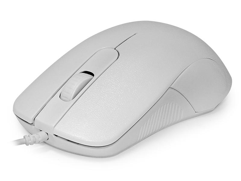 Мышь CBR CM 105 White, оптика, 1200dpi, офисн., провод 1,8м, USB