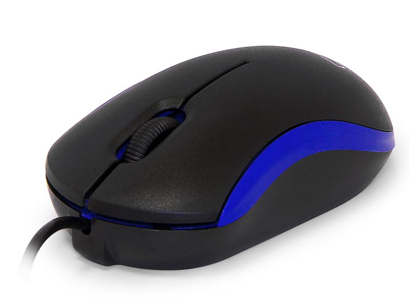 Мышь CBR CM 112  Blue оптика, оптика, 1200dpi, офисн., провод 1.1 метра, USB
