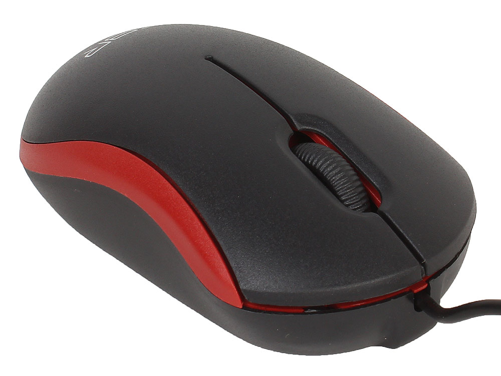Мышь CBR CM 112 Red оптика, оптика, 1200dpi, офисн., провод 1.1 метра, USB