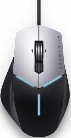 Мышь проводная DELL AW558 серый/черный USB 570-AARH мышь dell wm326 570 aami 570 aami