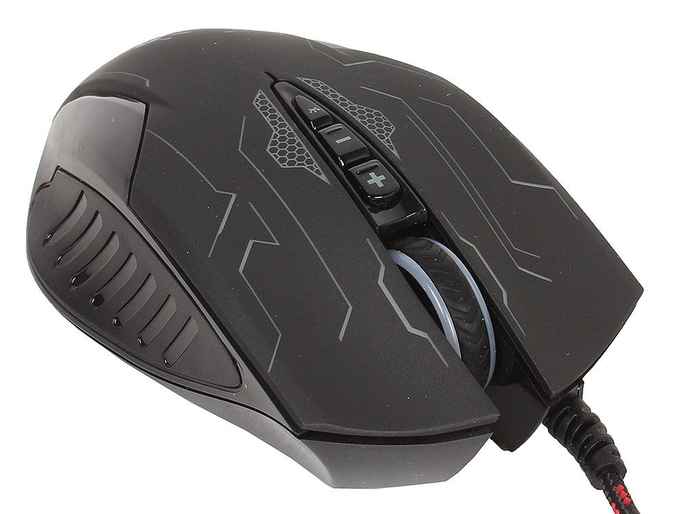 Мышь A4Tech Bloody Q51 black/picture USB проводная, оптическая, 3200 DPI, 7 кнопок + колесо мышь gembird mg 740 black usb проводная оптическая 2500 dpi 6 кнопок колесо