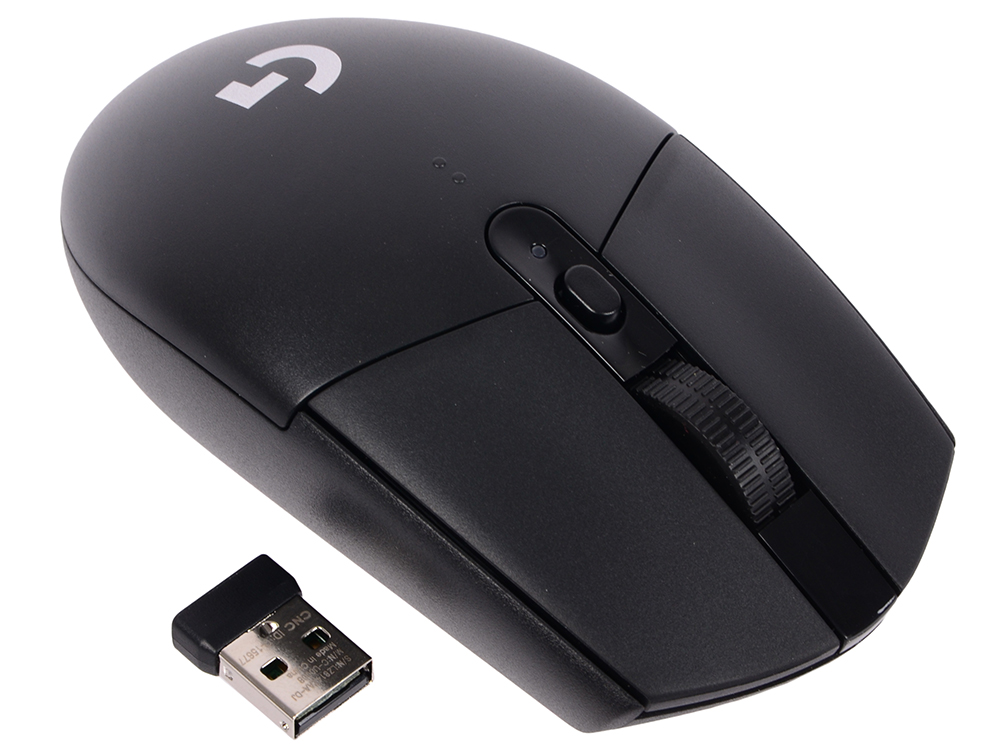 Мышь Logitech G305 Wireless Gaming Mouse Lightspeed Black USB оптическая, 12000 dpi, 5 кнопок + колесо rajfoo usb 2 0 wired 800 1200 1600 2400dpi gaming led mouse black 136cm cable