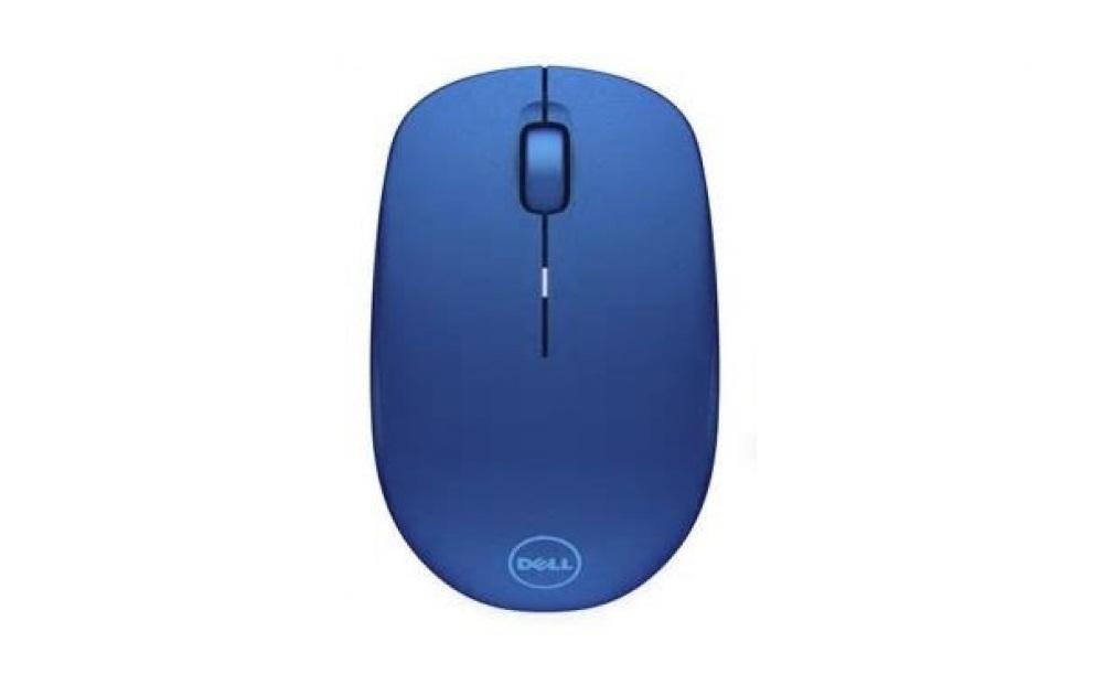Мышь беспроводная Dell WM126 Blue USB оптическая, 1000 dpi, 2 кнопки + колесо мышь беспроводная ritmix rmw 555 black red usb оптическая 1000 dpi 2 кнопки колесо