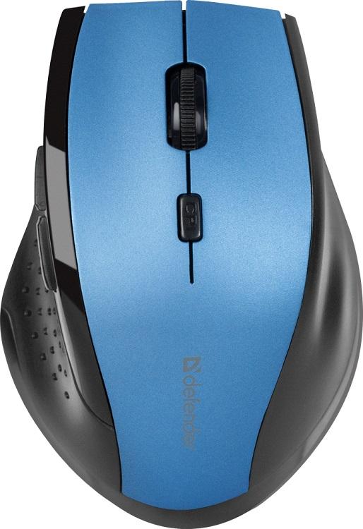 Мышь беспроводная Defender Accura MM-365 Blue USB оптическая, 1600 dpi, 5 кнопок + колесо baodi g20 1200 1600 2400 dpi usb wired optical game mouse w colorful light black