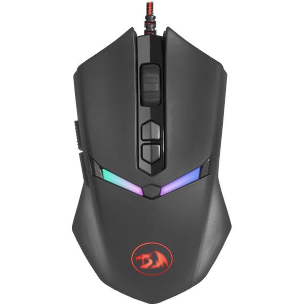 Мышь проводная игровая Redragon Nemeanlion 2 оптика,RGB,7200dpi redragon nemeanlion black red usb