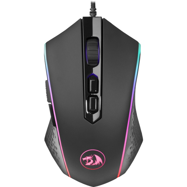Мышь Redragon Memeanlion Chroma Black USB оптическая, 10000 dpi, 7 кнопок + колесо мышь redragon centrophorus black usb