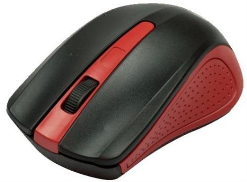 Мышь беспроводная Ritmix RMW-555 Black Red USB оптическая, 1000 dpi, 2 кнопки + колесо