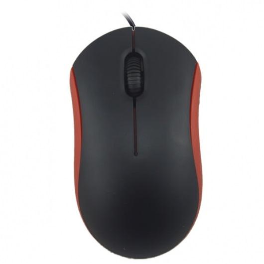 Мышь Ritmix ROM-111 Black Red USB оптическая, 1000 dpi, 2 кнопки + колесо