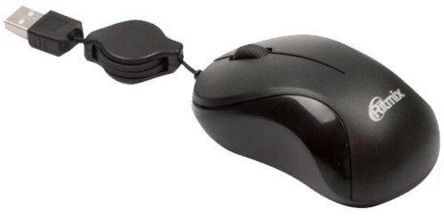 Мышь Ritmix ROM-123 Black USB проводная, оптическая, 1000 dpi, 2 кнопки + колесо все цены