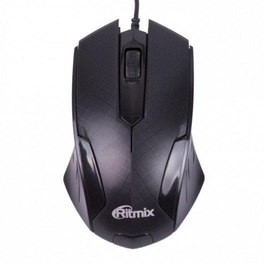 Мышь Ritmix ROM-303 Gaming Black USB оптическая, 1000 dpi, 2 кнопки + колесо juexie lightning panther g6 usb 2 0 1000 1600 2400dpi wired led optical gaming mouse black