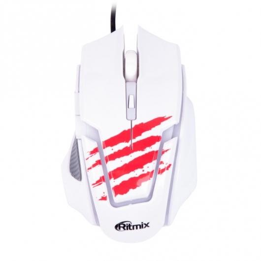 Мышь Ritmix ROM-350 White USB проводная, оптическая, 2400 dpi, 5 кнопок + колесо все цены