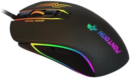 Мышь Jet.A Panteon MS69 Black USB проводная, оптическая, 3200 dpi, 6 кнопок + колесо мышь redragon gainer black usb оптическая 3200 dpi 5 кнопок колесо