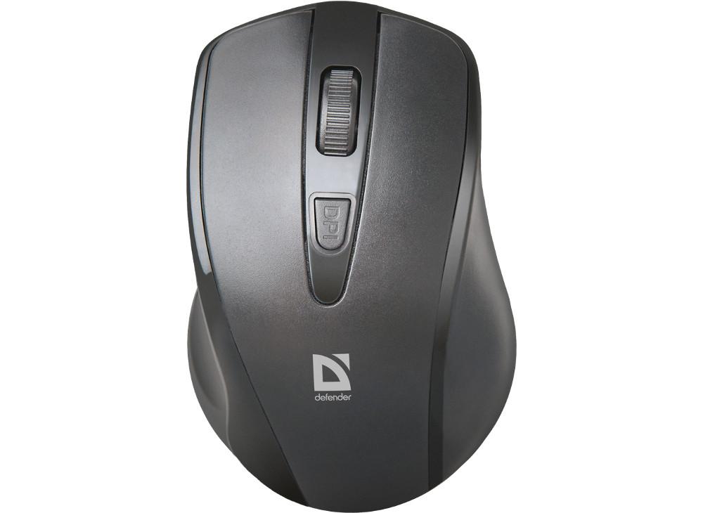 Мышь беспроводная Defender Datum MM-265 Black USB оптическая, 1600 dpi, 3 кнопки + колесо