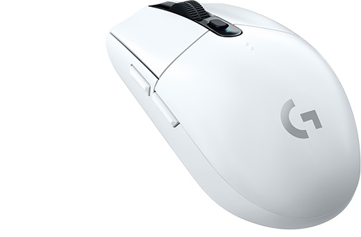 Мышь беспроводная Logitech G305 Wireless Gaming Mouse LIGHTSPEED White USB оптическая, 12000 dpi, 6 кнопок + колесо et d02 2 4g wireless gaming mouse white
