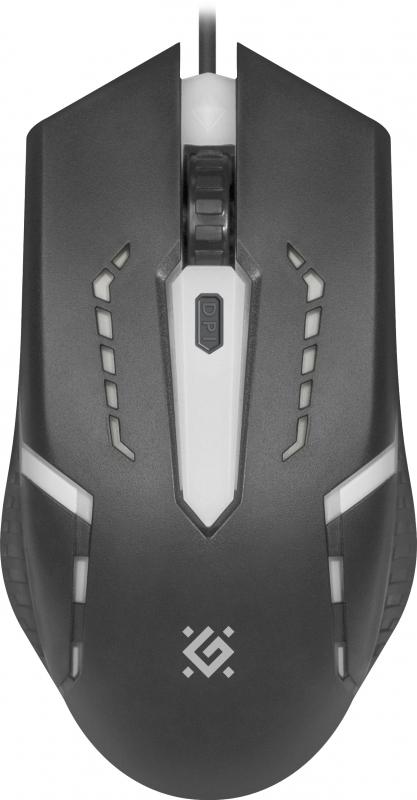 Мышь оптическая Defender Flash MB-600L , три кнопки + колесо-конпка, 1200 dpi