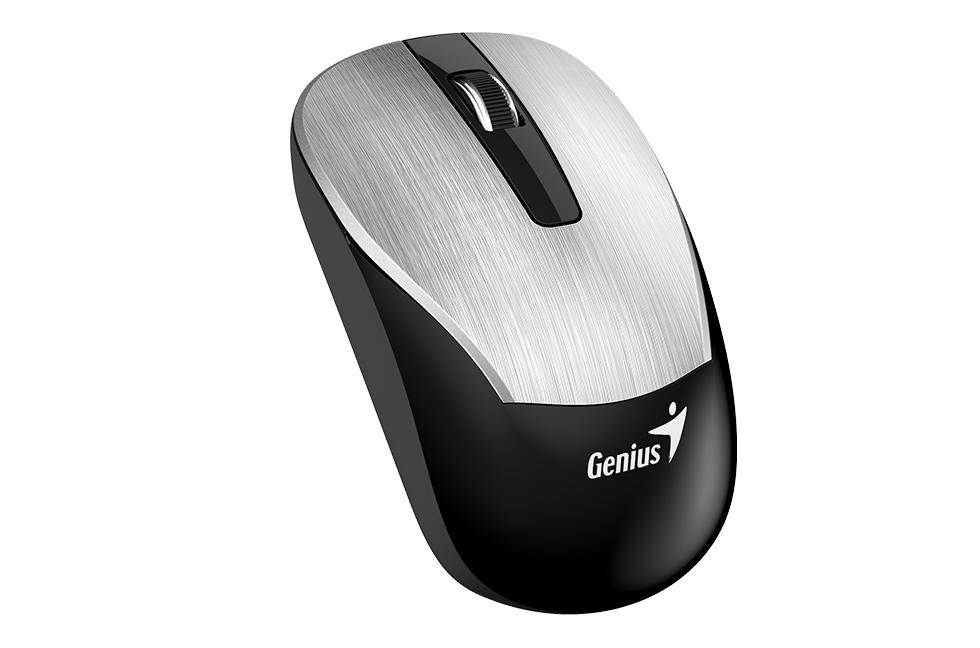 Мышь беспроводная Genius ECO-8015 Silver USB оптическая, 1600 dpi, 2 кнопки + колесо