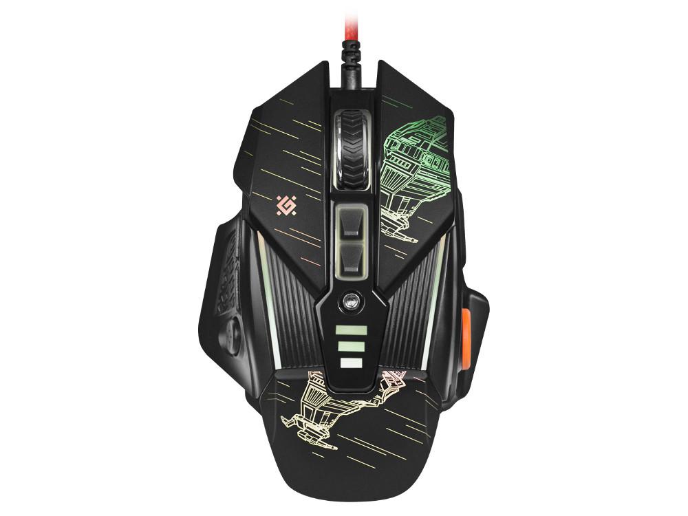 Мышь игровая Defender sTarx GM-390L оптика, USB, 8 кнопок, грузики, 3200dpi defender forsage drift usb ps2 ps3 12 кн рычаг коробки передач 64370