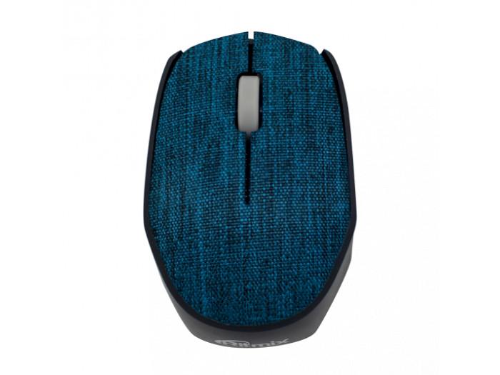 Мышь беспроводная RITMIX RMW-611 Blue fabric, тканевая поверхность, 1200dp