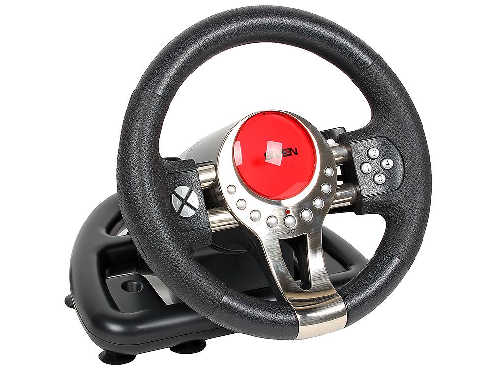 Руль SVEN TURBO (SV-063012) ,педали, виброотдача, 14 клавиш руль игровой c педалями sven speedy sv 063001