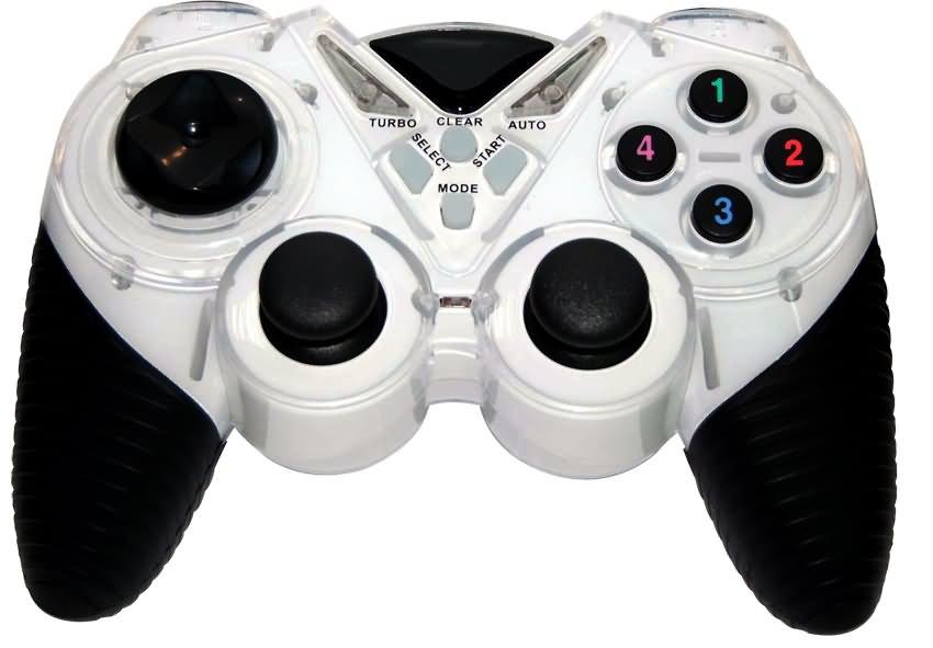 Геймпад 3Cott Single GP-05,14 кнопок, вибрация, USB,черно-белый dialog action gp a11 черный геймпад вибрация 12 кнопок usb