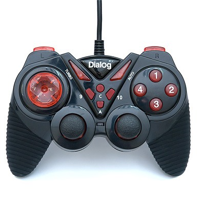 Геймпад Dialog Action GP-A13 Black-Red, вибрация, 12 кнопок, USB