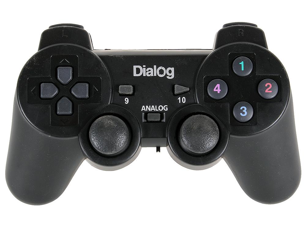 Геймпад Dialog Action GP-A11RF Black, беспроводной 2.4G, вибрация, 12 кнопок, USB