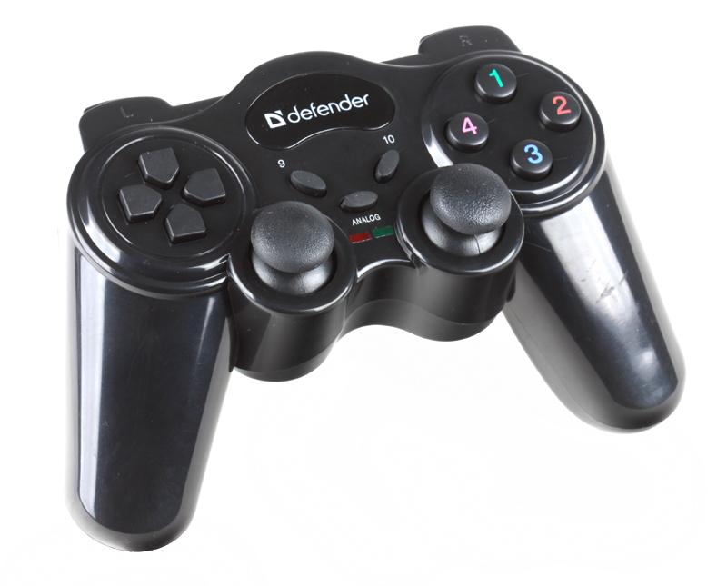 Беспроводной геймпад Defender GAME MASTER WIRELESS до 10м, 2 дж, 12кн, USB геймпад defender game master wireless usb 64257