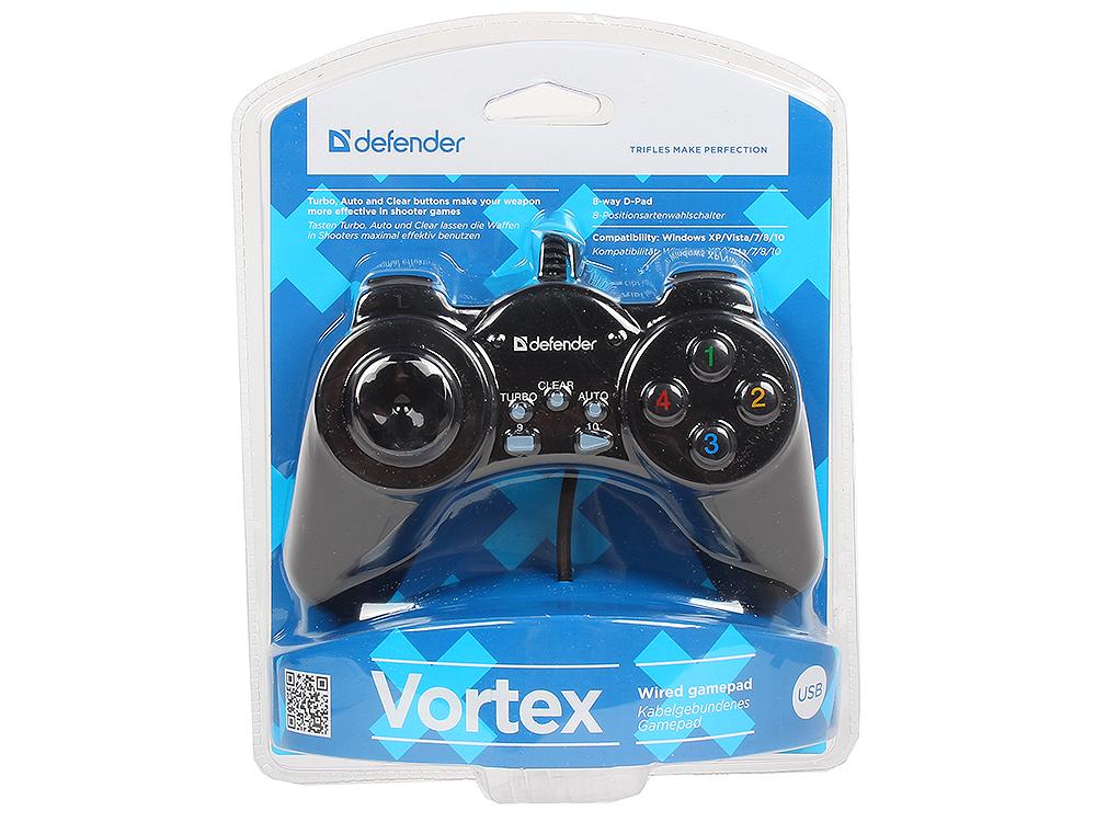 Геймпад проводной Defender Vortex USB, 13 кнопок