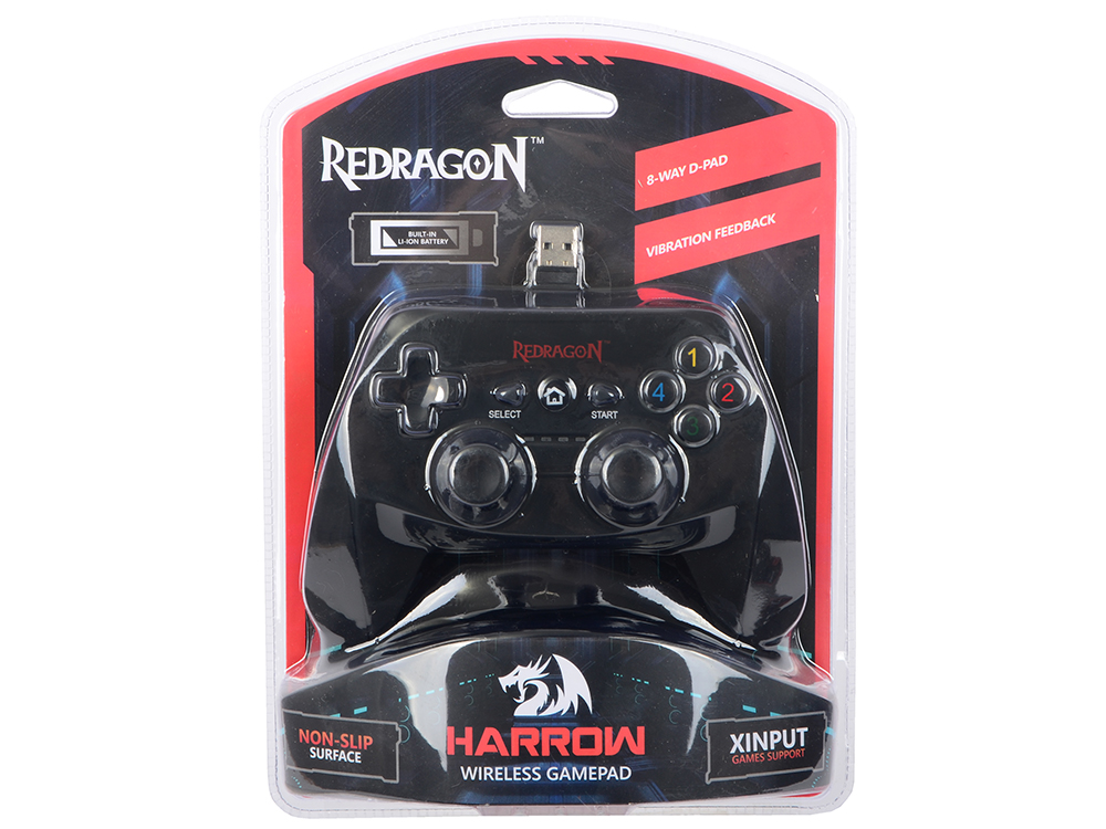 Геймпад беспроводной Redragon Harrow USB Xinput-PS3, радио, Li-Ion лосьон harrow flash 500ml
