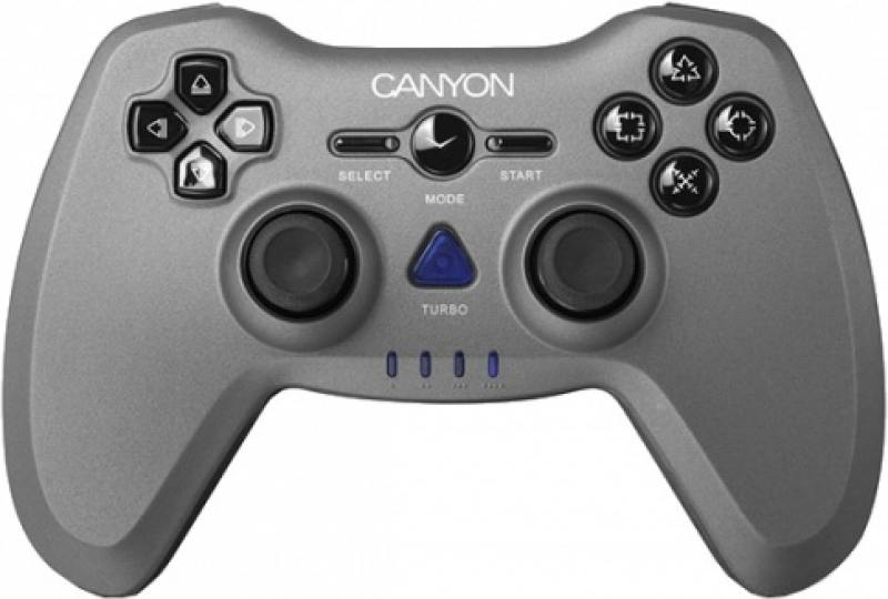 Геймпад CANYON CNS-GPW6 3in1 wireless gamepad, up to 8 hours of play time, transmission distance up to 10m, rubberized finishing, dual-shock vibration цена