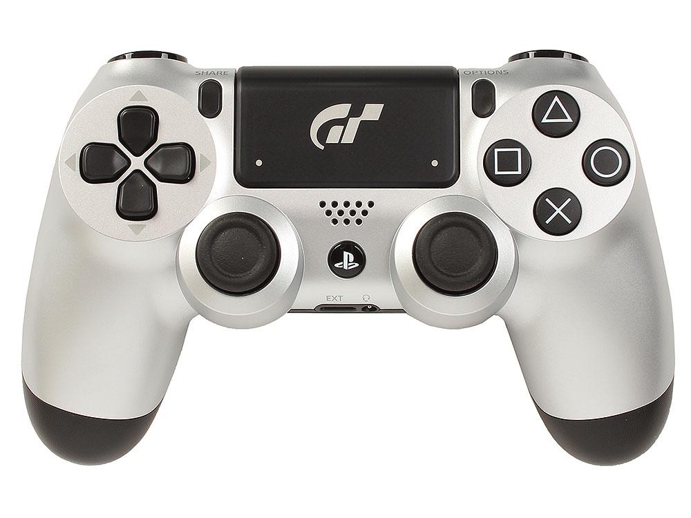 все цены на Геймпад Sony Dualshock 4 DS4 GTS для Sony PlayStation 4 белый + Игра Gran Turismo Sport