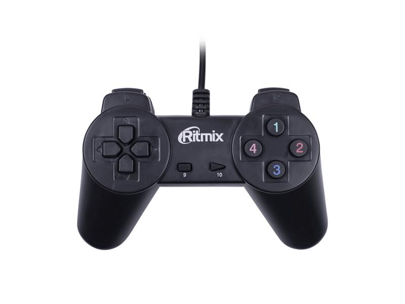Геймпад GP-001 Black для ПК, USB, 14 кнопок, кабель 1,5м Ritmix