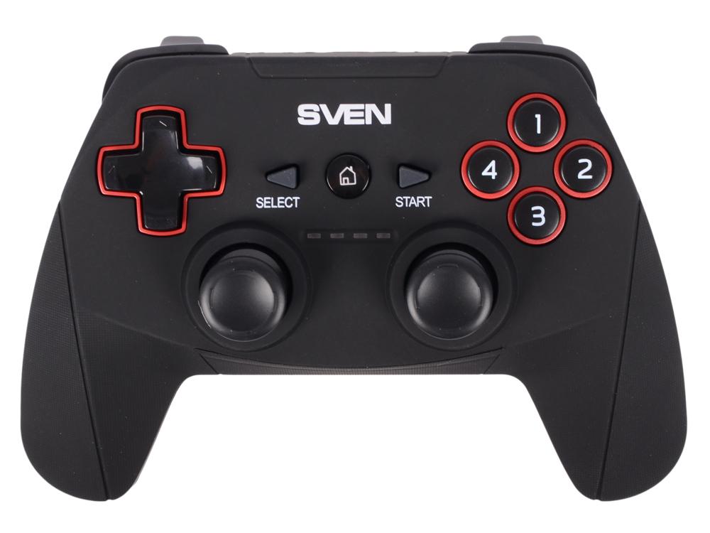 Геймпад беспроводной SVEN GC-2040 (11 кл. 2 мини-джойстика, D-pad, Soft Touch, PC/PS3/Xinput) геймпад sven x pad sv 063007 провод 14 клавиш d pad 8 позиц 2 мини джой резиновые вставки